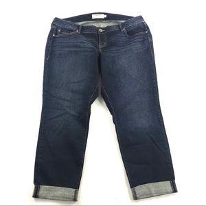 Torrid Cuffed Crop Jeans Size 18 dark wash